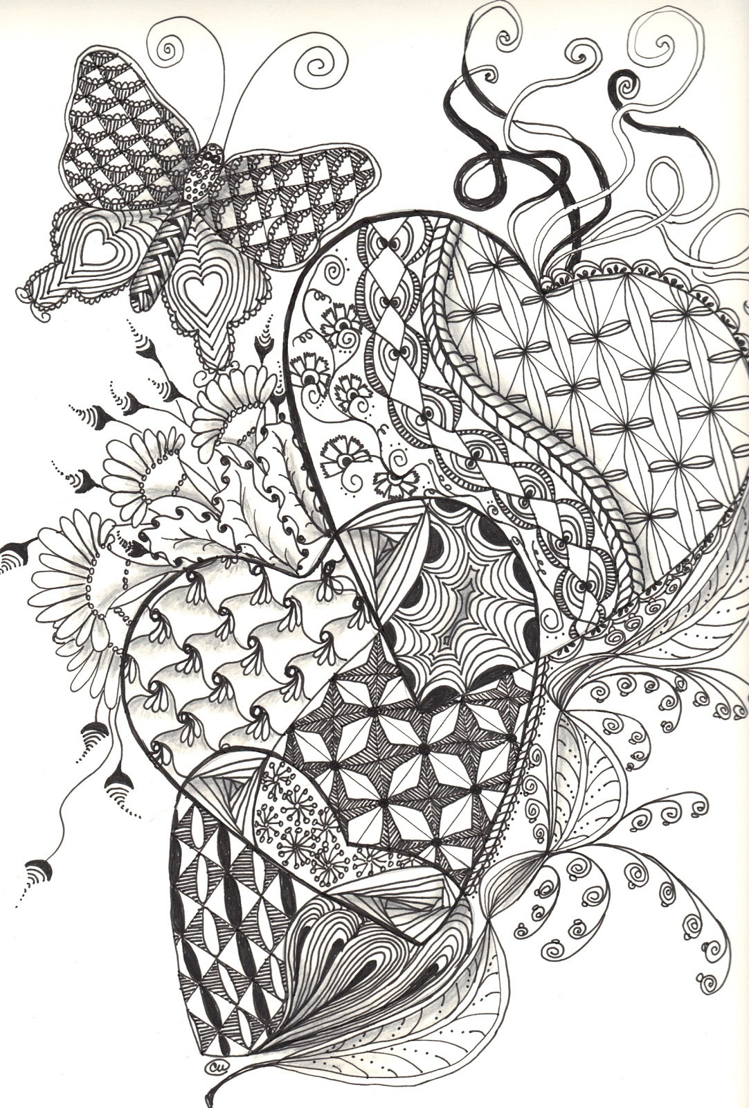 Best ideas about Zentangle Coloring Pages For Kids . Save or Pin Zentangle coloring pages Now.