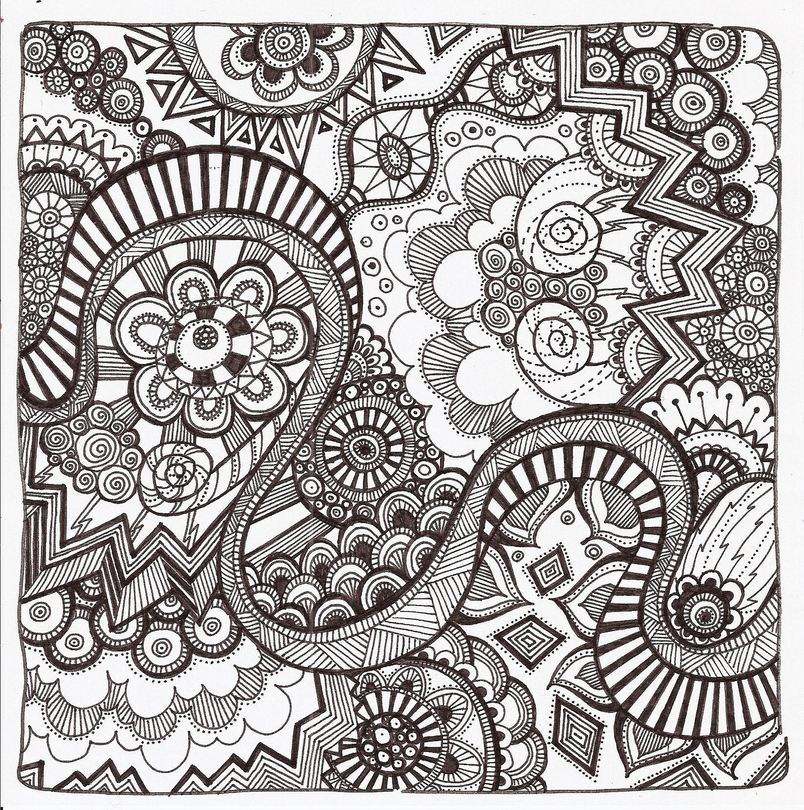 Best ideas about Zentangle Coloring Pages For Kids . Save or Pin Free Printable Zentangle Coloring Pages for Adults Now.