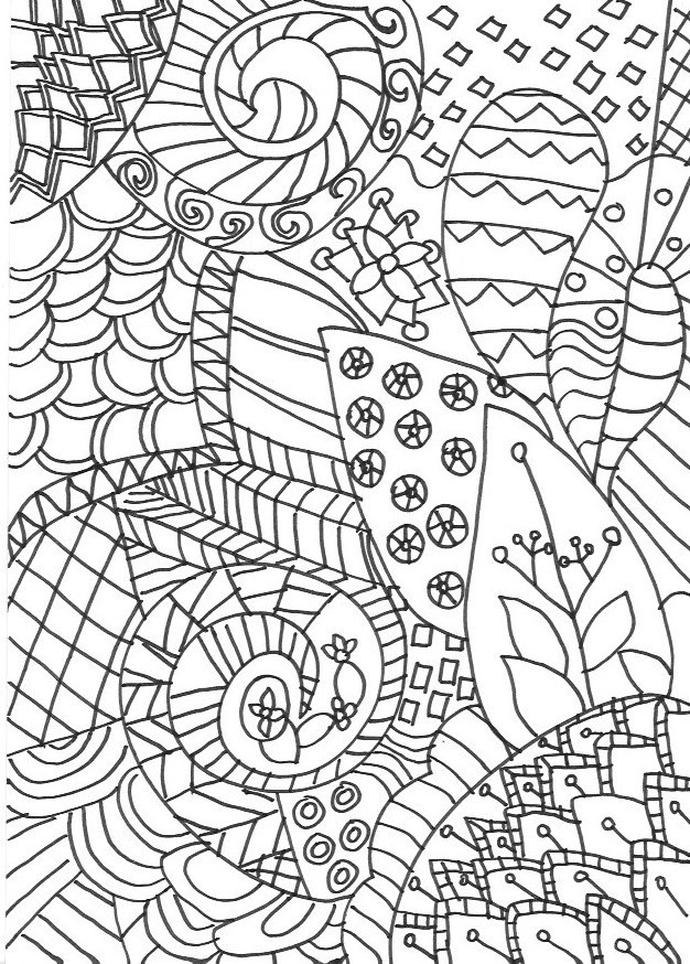 Best ideas about Zentangle Coloring Pages For Kids . Save or Pin Zentangle Colouring Pages In The Playroom Now.
