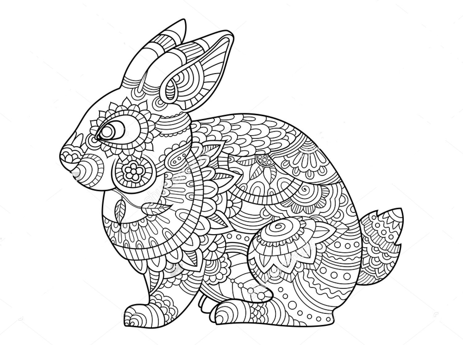 Best ideas about Zentangle Coloring Pages For Kids . Save or Pin Zentangle Coloring Pages Animals Download Now.