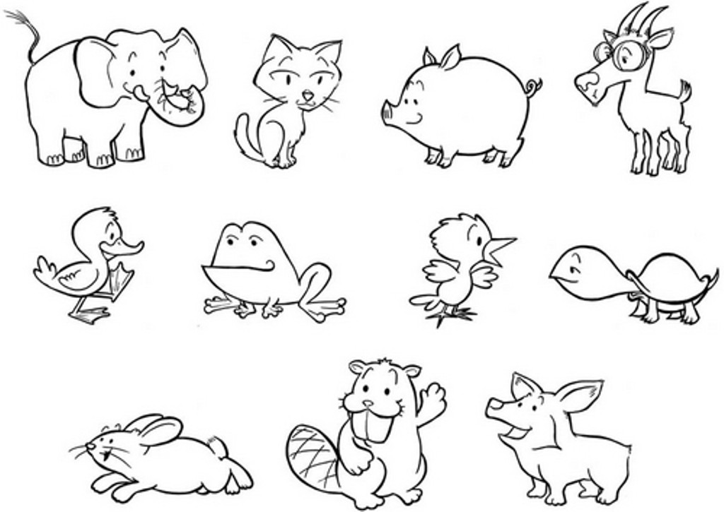 Best ideas about Zoo Animals Printable Coloring Pages . Save or Pin 7 Best of Free Printable Woodland Baby Animals To Now.