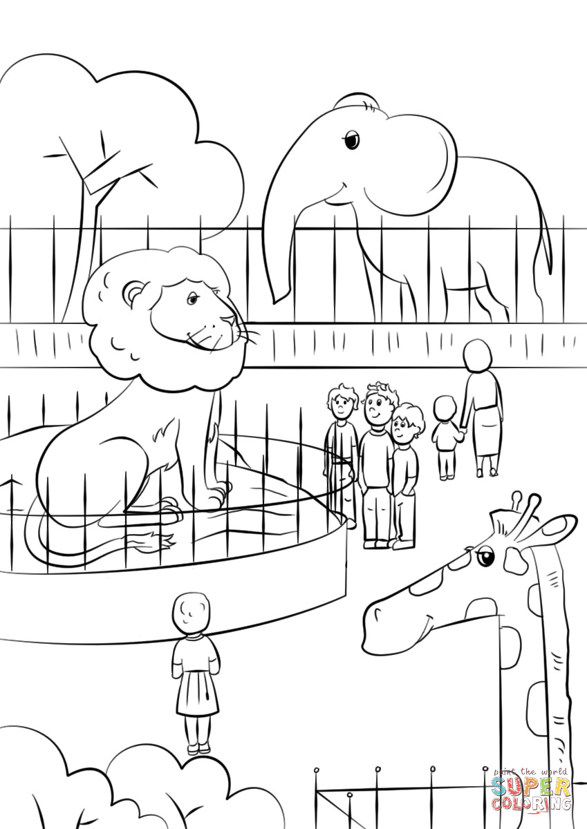 Best ideas about Zoo Animals Printable Coloring Pages . Save or Pin Zoo Animals coloring page Now.