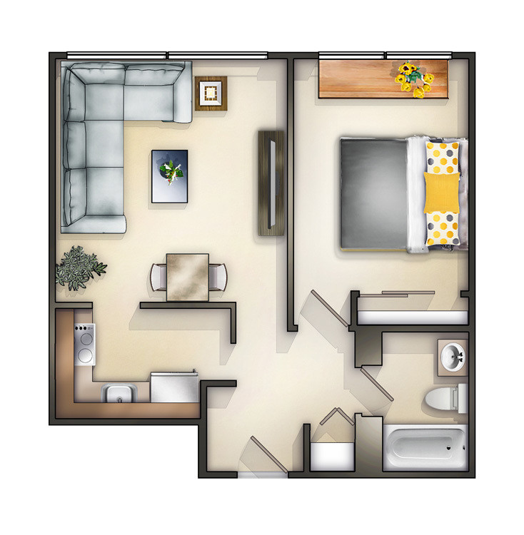 Best ideas about 1 Bedroom Apt In Chicago . Save or Pin Chicago IL Apartments Academy Square Now.