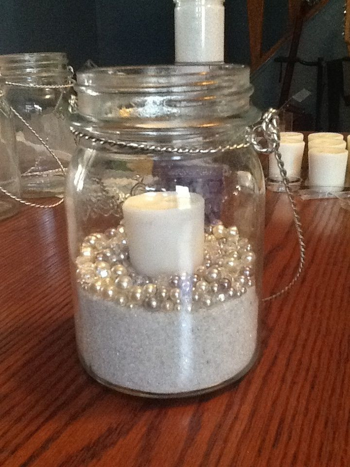 Best ideas about 101 DIY Mason Jar Wedding Ideas . Save or Pin wedding diy mason jars candle sand and pearls Can Now.