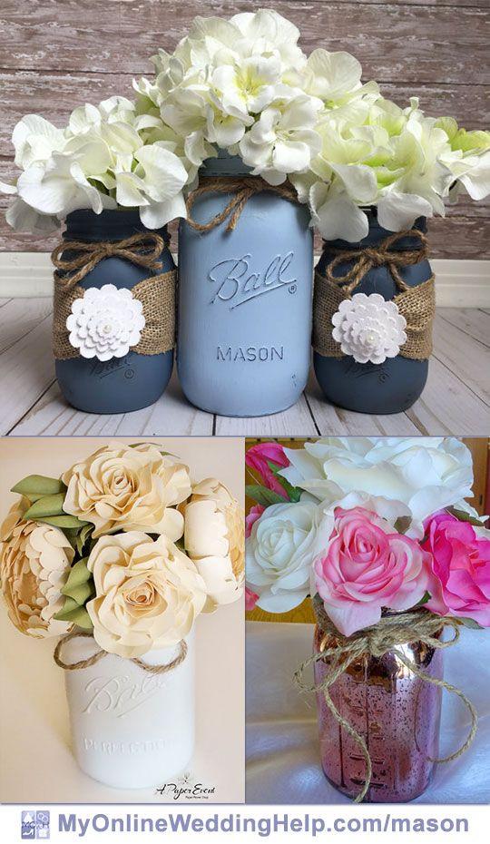 Best ideas about 101 DIY Mason Jar Wedding Ideas . Save or Pin 19 Mason Jar Centerpiece Ideas for Weddings Now.