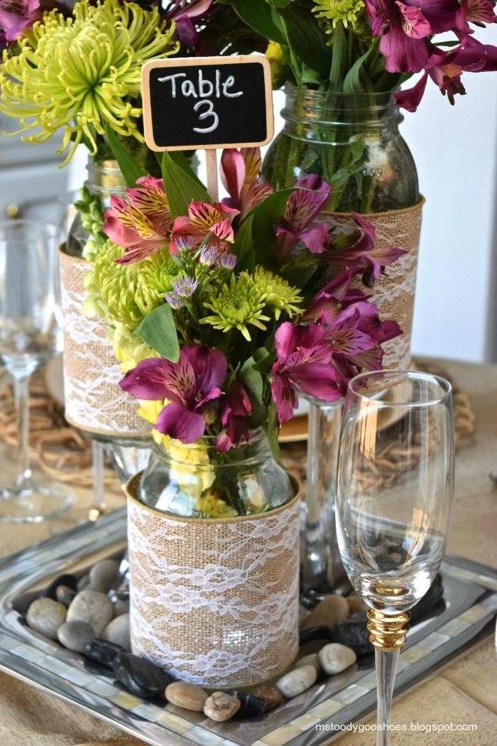 Best ideas about 101 DIY Mason Jar Wedding Ideas . Save or Pin DIY Mason Jar Wedding Centerpieces A Little Claireification Now.