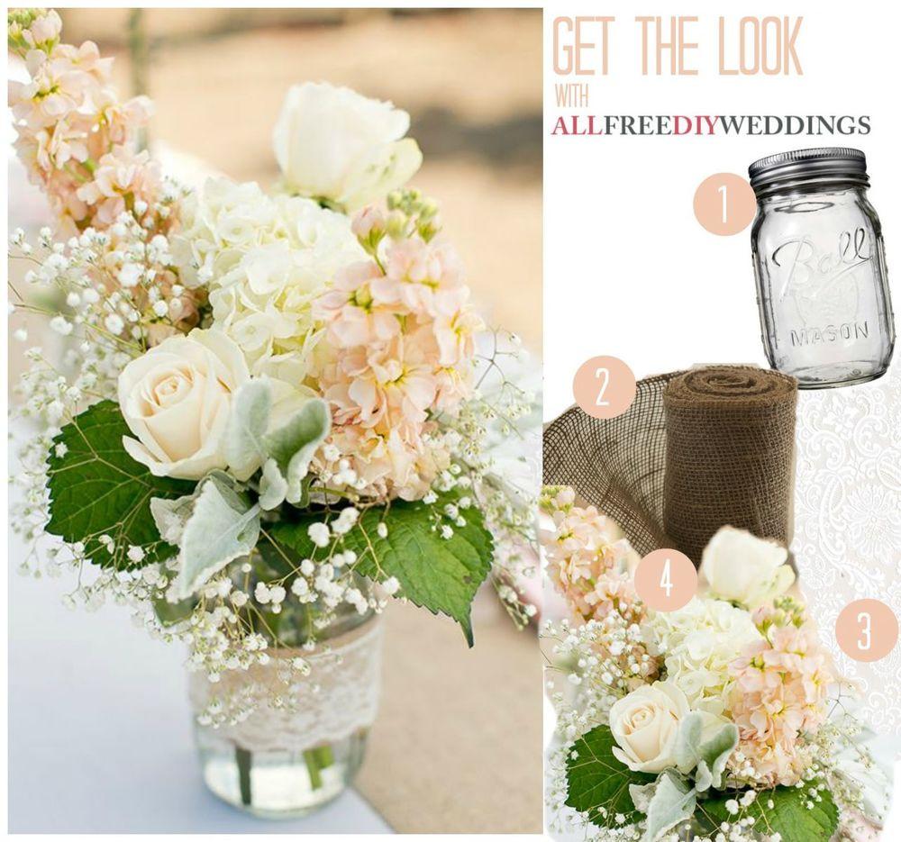 Best ideas about 101 DIY Mason Jar Wedding Ideas . Save or Pin Lace and Burlap Mason Jar Centerpieces Now.
