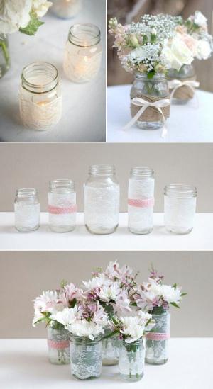 Best ideas about 101 DIY Mason Jar Wedding Ideas . Save or Pin 101 DIY mason jar wedding ideas Now.