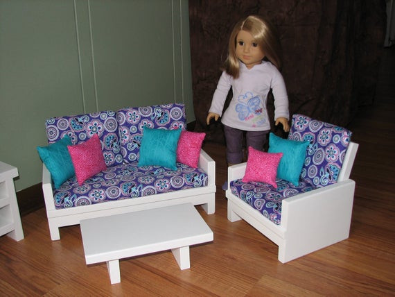 Best ideas about 18 Inch Doll Furniture DIY . Save or Pin 18 inch doll furniture set for American Girl Doll Loveseat Now.