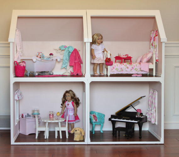 Best ideas about 18 Inch Doll Furniture DIY . Save or Pin Doll House Plans for American Girl or 18 inch dolls e Room Now.