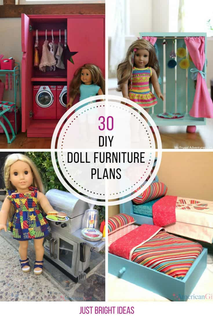 Best ideas about 18 Inch Doll Furniture DIY . Save or Pin 30 DIY American Girl Furniture Projects You Need to See Now.