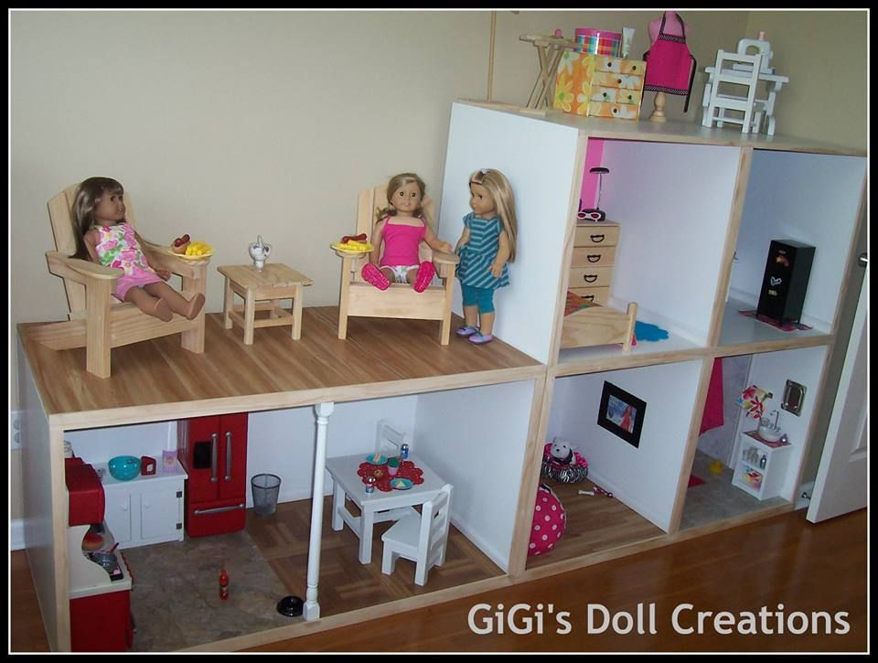Best ideas about 18 Inch Doll Furniture DIY . Save or Pin GiGi s Doll and Craft Creations American Girl Doll House Now.