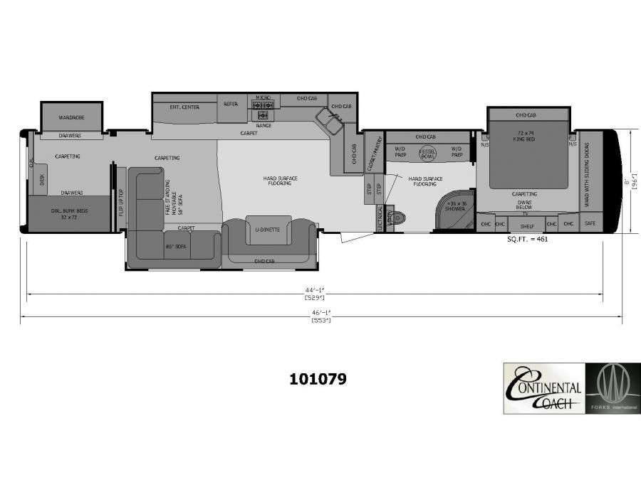 Best ideas about 2 Bedroom 5Th Wheel . Save or Pin 2 Bedroom 5th Wheel Floor Plans camper Now.