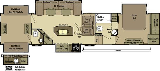 Best ideas about 2 Bedroom 5Th Wheel . Save or Pin 2 bedroom fifth wheel floorplans Google Search Now.