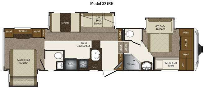 Best ideas about 2 Bedroom 5Th Wheel . Save or Pin Used 2013 Keystone RV Laredo 321BH Fifth Wheel at Now.