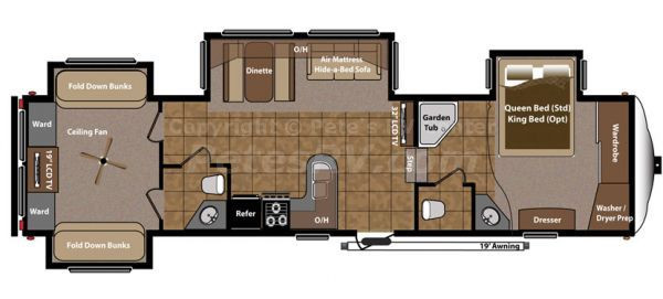 Best ideas about 2 Bedroom Rv . Save or Pin 2 Bedroom Bath Fifth Wheel Rv Now.