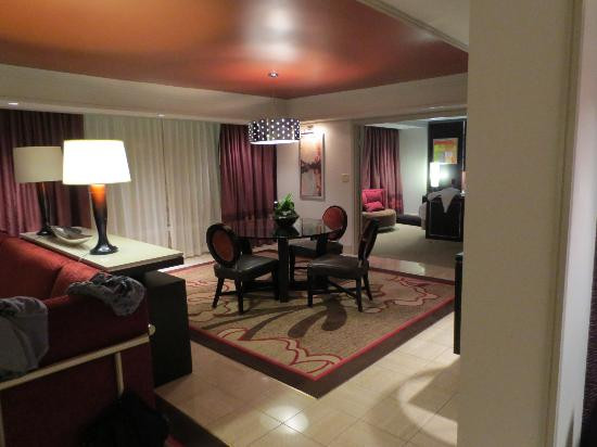 Best ideas about 2 Bedroom Suites Las Vegas . Save or Pin 2 Bedroom Tower Suite living area Picture of The Mirage Now.