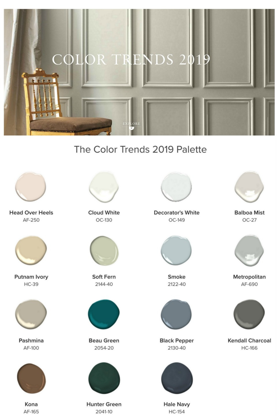 Best ideas about 2019 Paint Colors . Save or Pin 2019 Benjamin Moore Color of the Year Now.