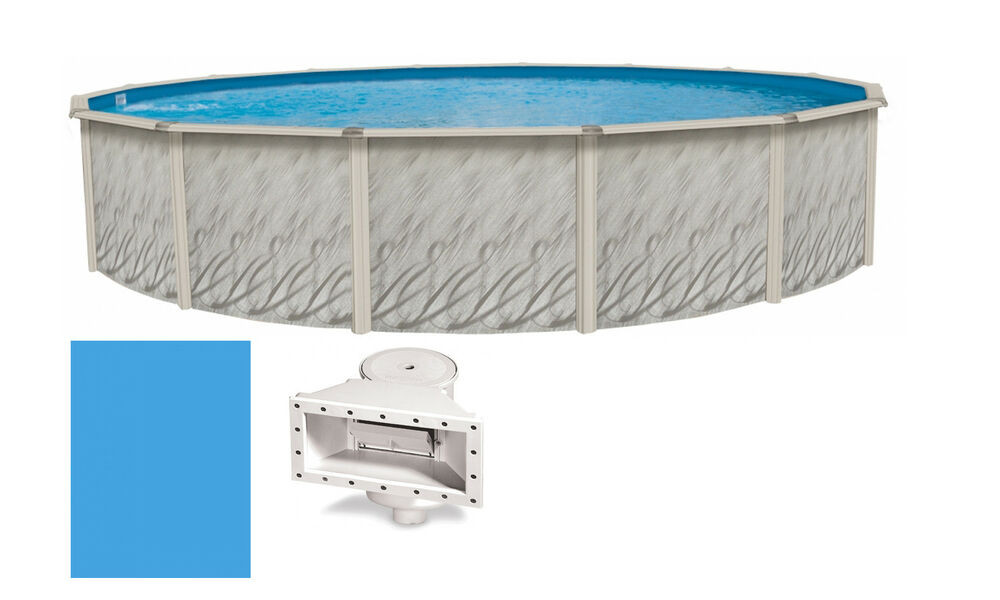 """Best ideas about 24' Above Ground Pool . Save or Pin 24 x52"""" Ft Round MEADOWS Ground Steel Wall Swimming Now."""