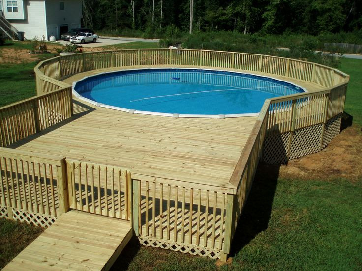 Best ideas about 24' Above Ground Pool . Save or Pin Best 126 Ground Pool Landscaping images on Now.