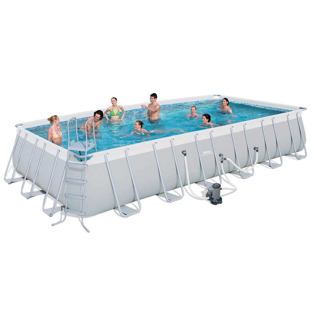 """Best ideas about 24' Above Ground Pool . Save or Pin Bestway 24 x12 x52"""" Rectangular Frame Ground Now."""
