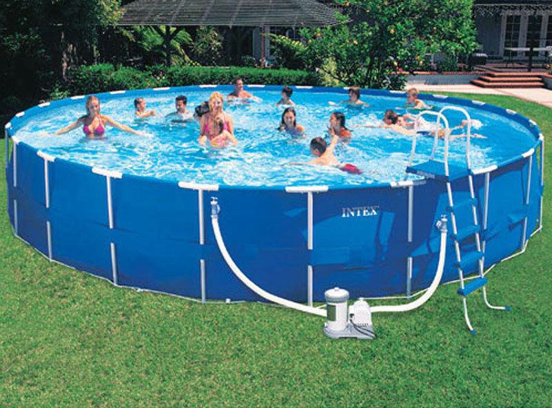 Best ideas about 24' Above Ground Pool . Save or Pin 24 Round Intex Metal Frame ground Swimming Pool Kit Now.