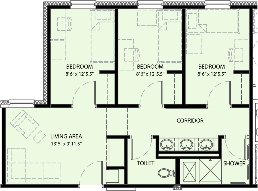 Best ideas about 3 Bedroom Floor Plans . Save or Pin Pricing and Floor Plan University mons University Now.