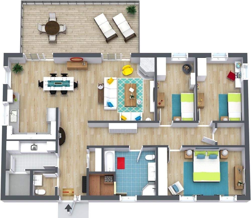 Best ideas about 3 Bedroom Floor Plans . Save or Pin 3 Bedroom Floor Plans Now.