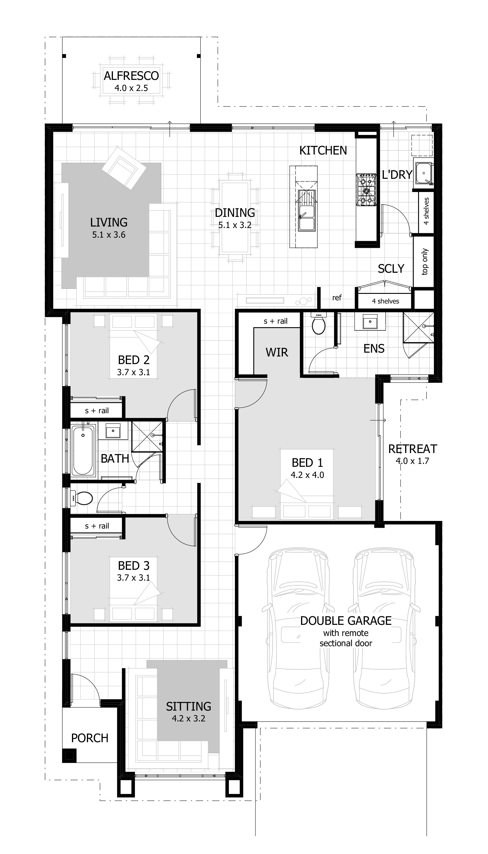 Best ideas about 3 Bedroom Floor Plans . Save or Pin 3 Bedroom House Plans & Home Designs Now.