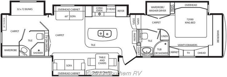 Best ideas about 3 Bedroom Rv . Save or Pin 3 Bedroom Motorhome Craigslist Now.