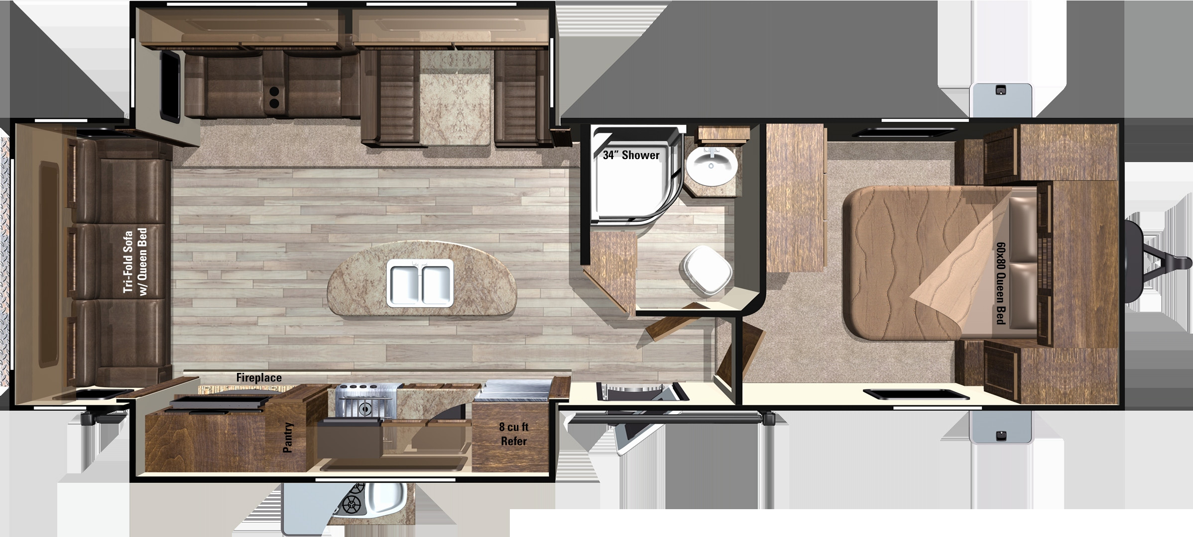 Best ideas about 3 Bedroom Rv . Save or Pin Three Bedroom Two Bath RV Now.