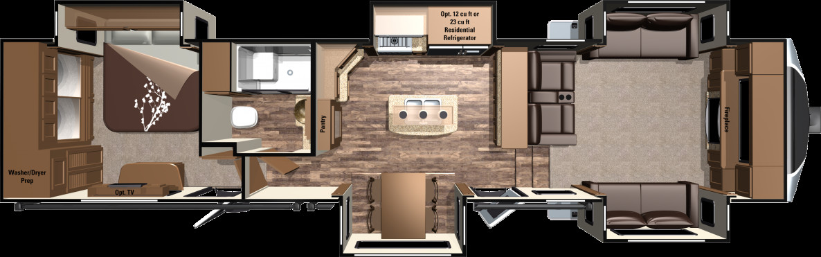 Best ideas about 3 Bedroom Rv . Save or Pin 2016 Open Range 3x Fifth Wheels 3X377FLR by Highland Ridge RV Now.
