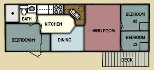 Best ideas about 3 Bedroom Rv . Save or Pin Vacation Rentals — Pirateland Family Camping Resort Now.