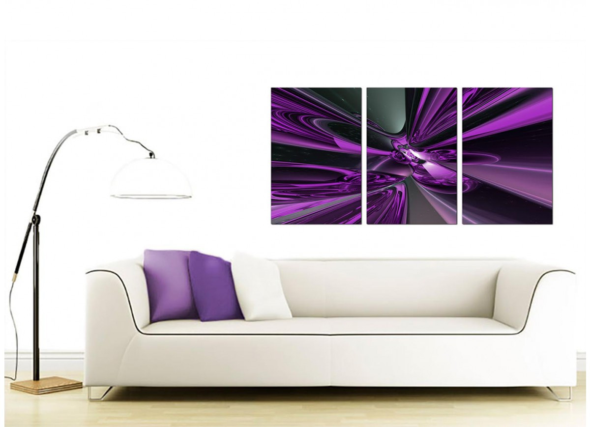 Best ideas about 3 Panel Wall Art . Save or Pin 3 Panel Abstract Canvas Wall Art in Purple 3018 Now.