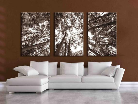 Best ideas about 3 Panel Wall Art . Save or Pin Three large multi panel wall art aspen 20x24 inch or 24x36 Now.