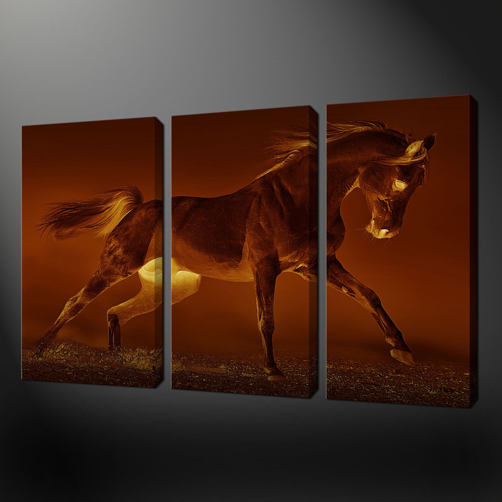 Best ideas about 3 Panel Wall Art . Save or Pin SEPIA HORSE 3 PANEL SPLIT CANVAS WALL ART PICTURES PRINTS Now.