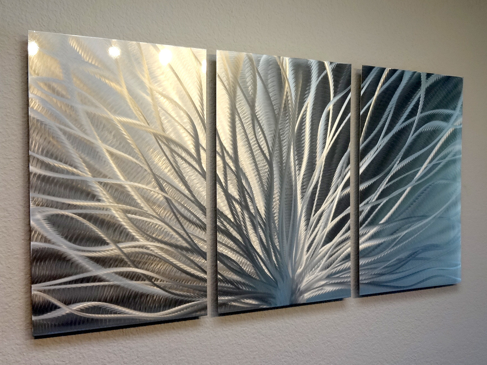Best ideas about 3 Panel Wall Art . Save or Pin Radiance 3 Panel Metal Wall Art Abstract Contemporary Now.