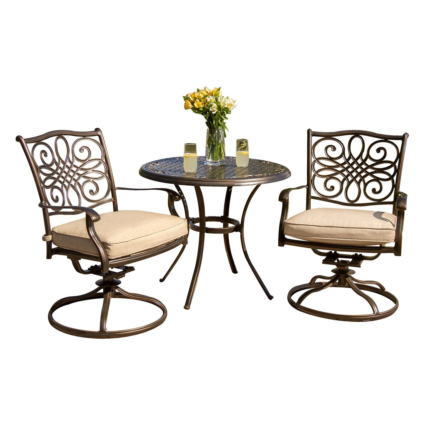 Best ideas about 3 Piece Patio Set . Save or Pin Hanover Outdoor Furniture TRADITIONS3PCSW Traditions 3 Now.