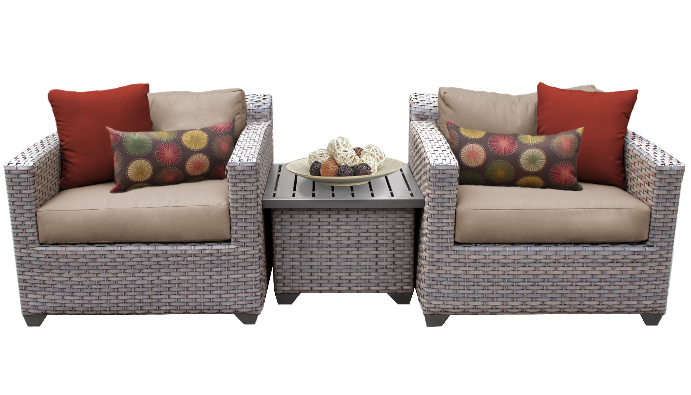 Best ideas about 3 Piece Patio Set . Save or Pin Catalina 3 Piece Outdoor Wicker Patio Furniture Set 03a 2 Now.