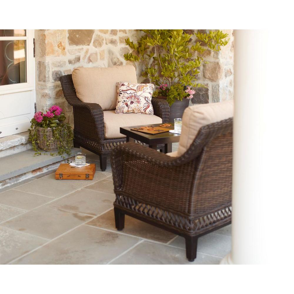 Best ideas about 3 Piece Patio Set . Save or Pin Hampton Bay Woodbury 3 Piece Wicker Outdoor Patio Chat Set Now.