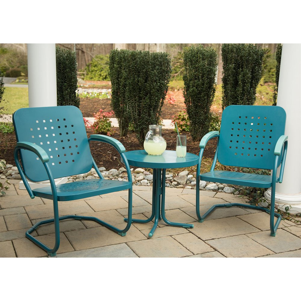 Best ideas about 3 Piece Patio Set . Save or Pin Hanover Outdoor Furniture Retro 3 Piece Outdoor Steel Now.
