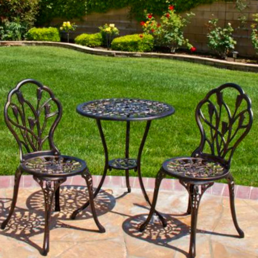 Best ideas about 3 Piece Patio Set . Save or Pin Patio Set Bistro Outdoor Furniture Table 3 Piece Chairs Now.