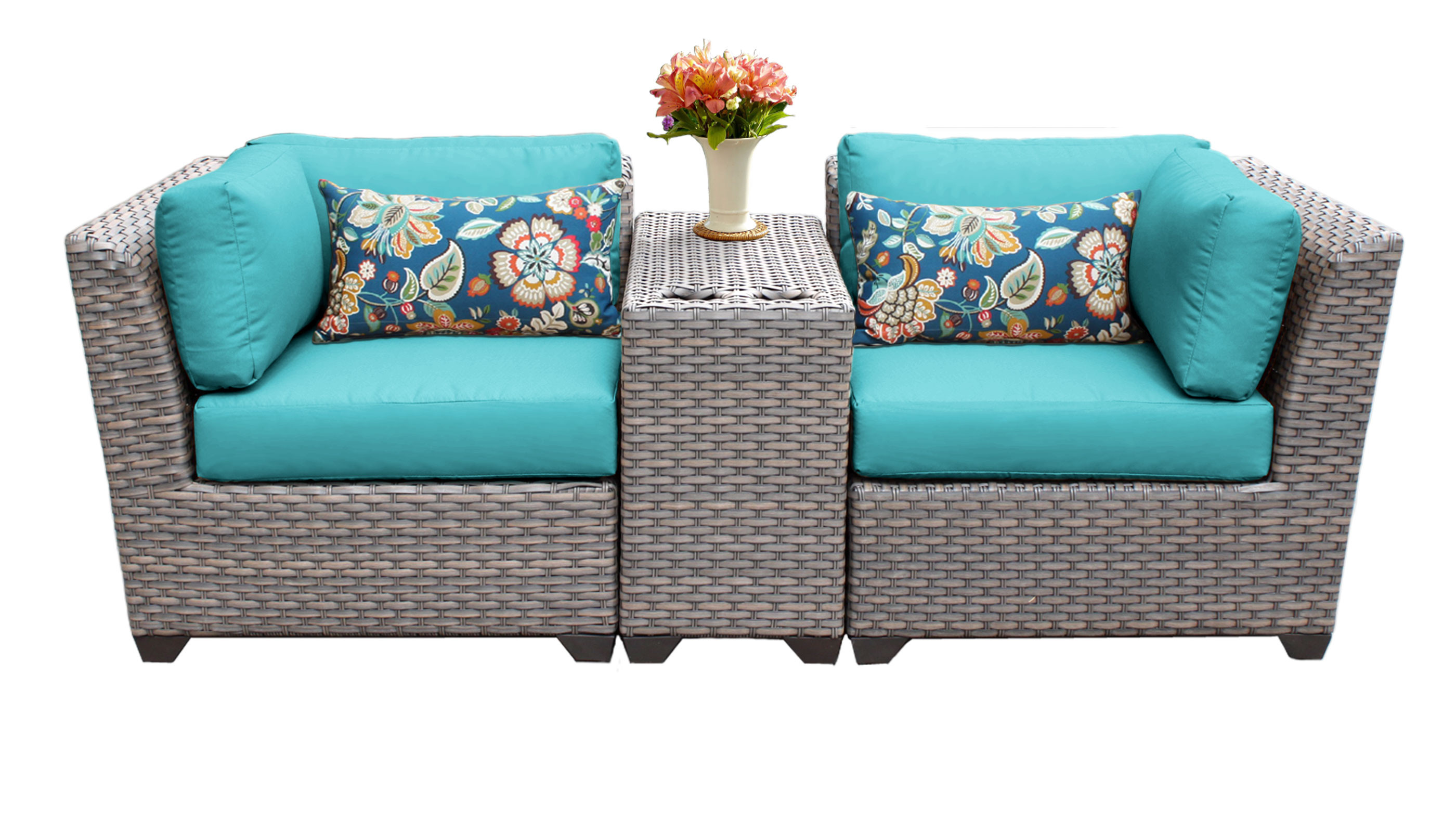 Best ideas about 3 Piece Patio Set . Save or Pin Catalina 3 Piece Outdoor Wicker Patio Furniture Set 03b 2 Now.