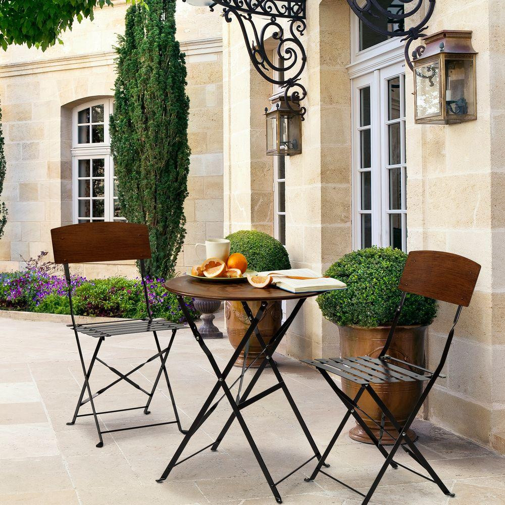 Best ideas about 3 Piece Patio Set . Save or Pin Home Decorators Collection Follie Peacock 3 Piece Patio Now.
