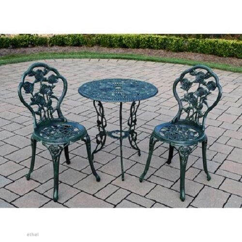 Best ideas about 3 Piece Patio Set . Save or Pin NEW Rose 3 Piece Cast Iron Bistro Patio Set Outdoor Table Now.