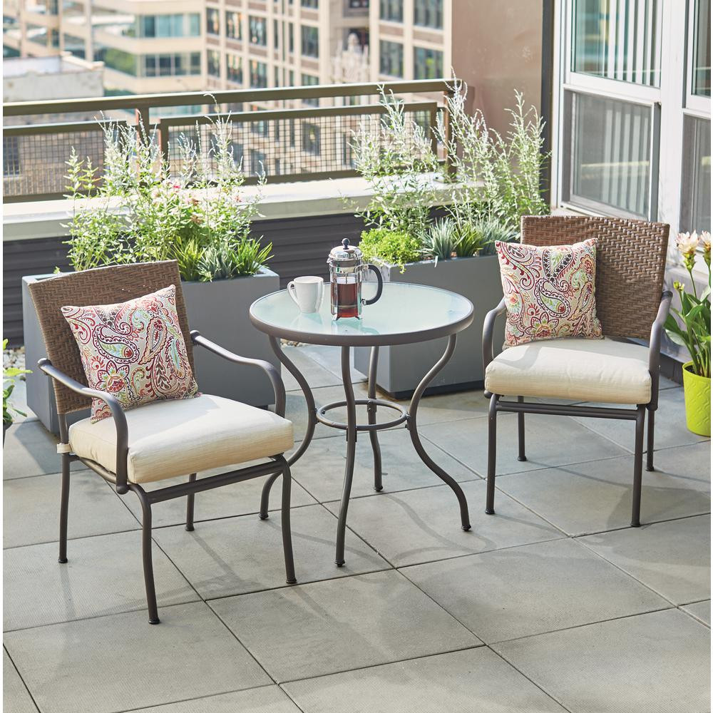 Best ideas about 3 Piece Patio Set . Save or Pin Bistro Sets Patio Dining Furniture The Home Depot Now.