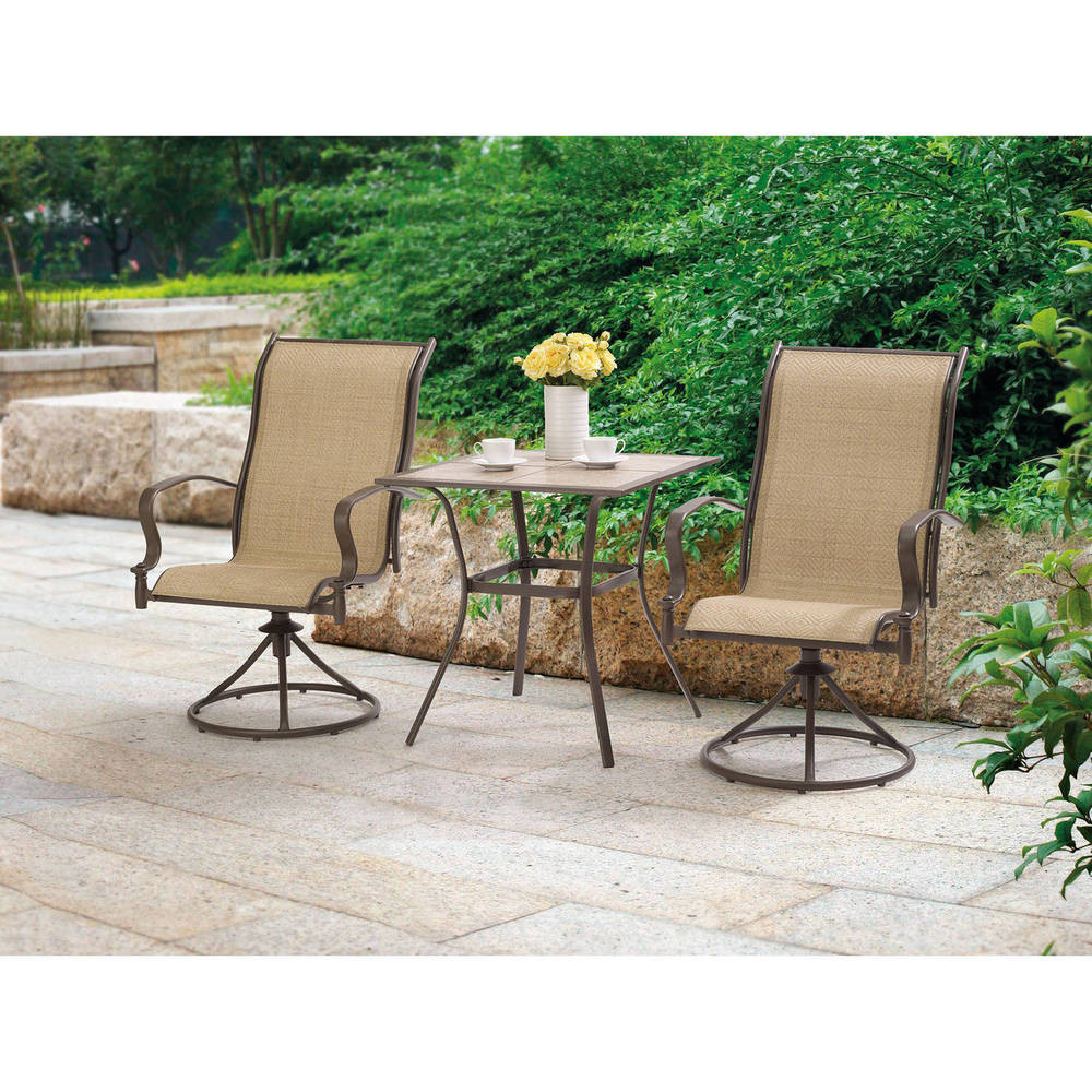 Best ideas about 3 Piece Patio Set . Save or Pin Outdoor 3 Piece Bistro Set Swivel Rocker Chairs Table Now.