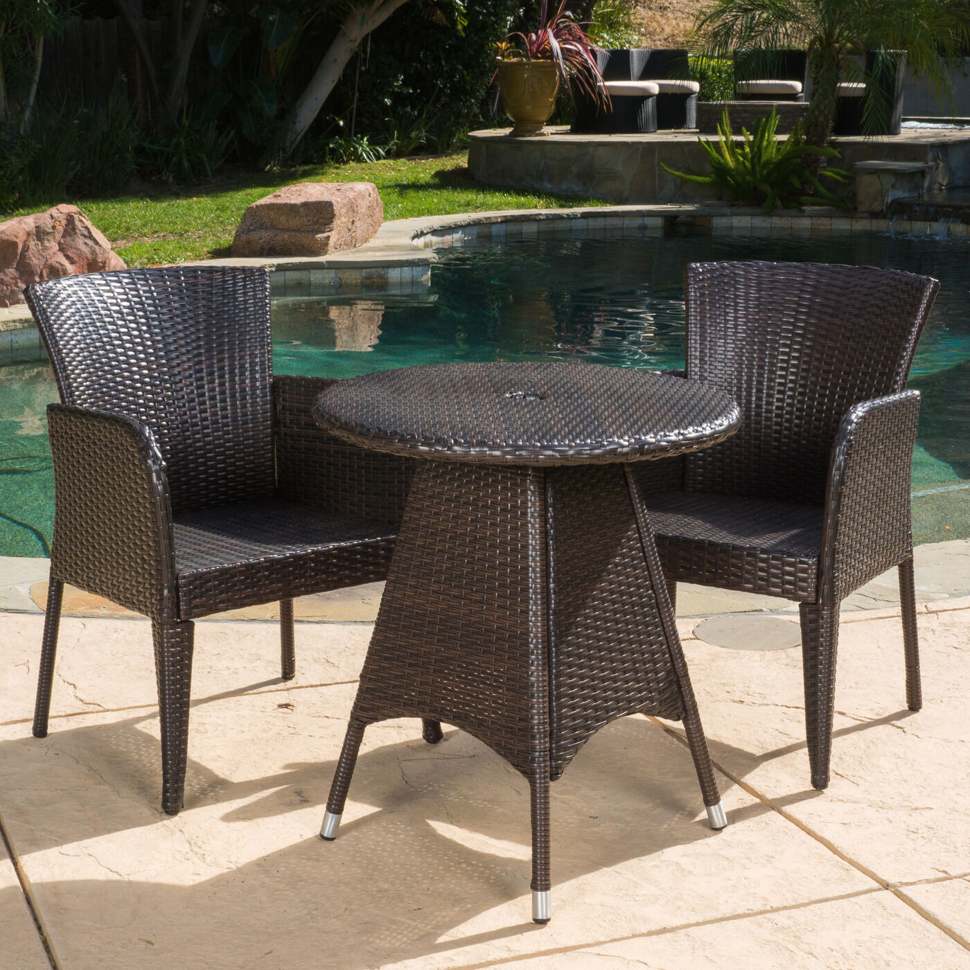 Best ideas about 3 Piece Patio Set . Save or Pin Outdoor Patio Set Modern Rattan Bistro Contemporary Wicker Now.