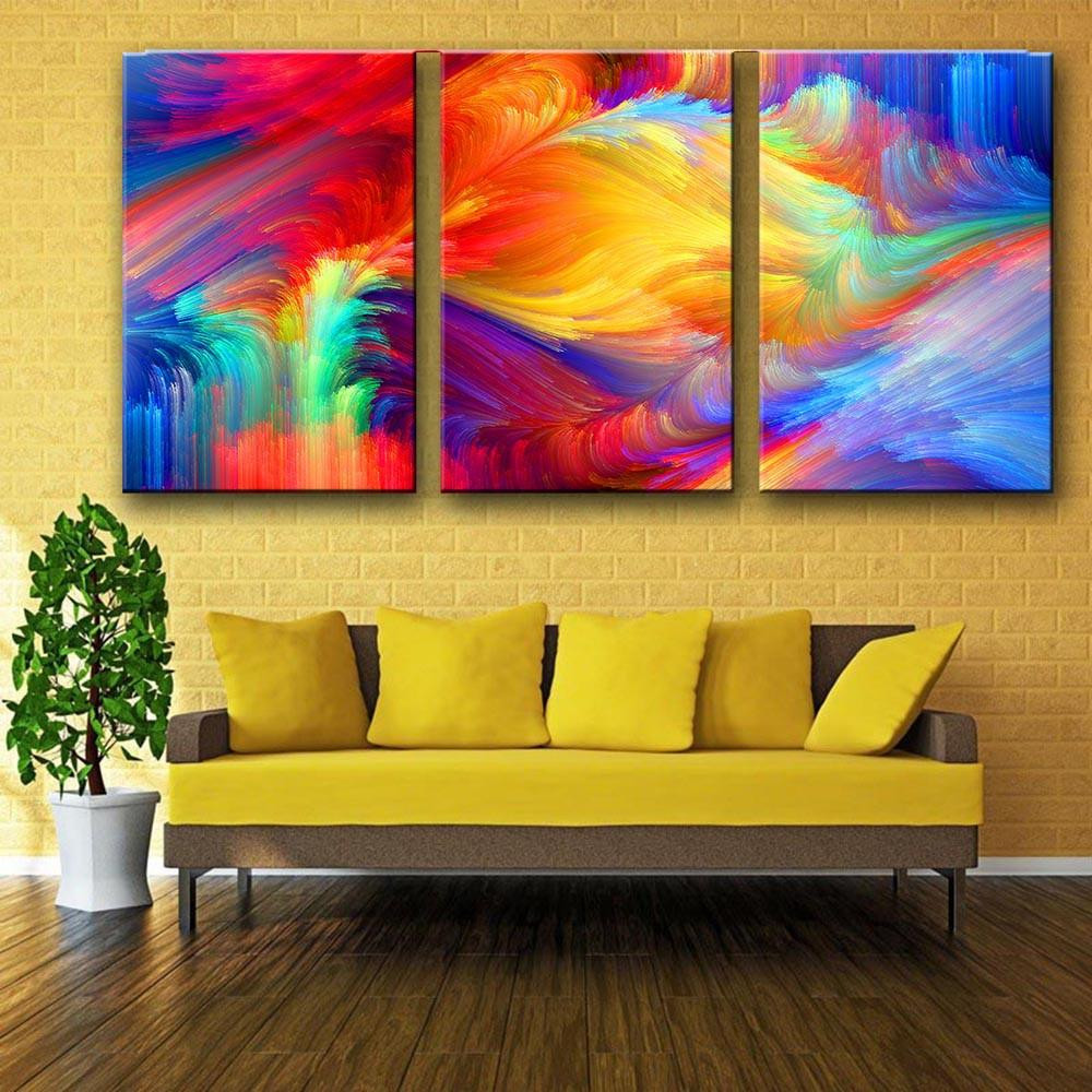 Best ideas about 3 Piece Wall Art . Save or Pin 3 Piece Rainbow Canvas Wall art – MYPRIDESHOP Now.