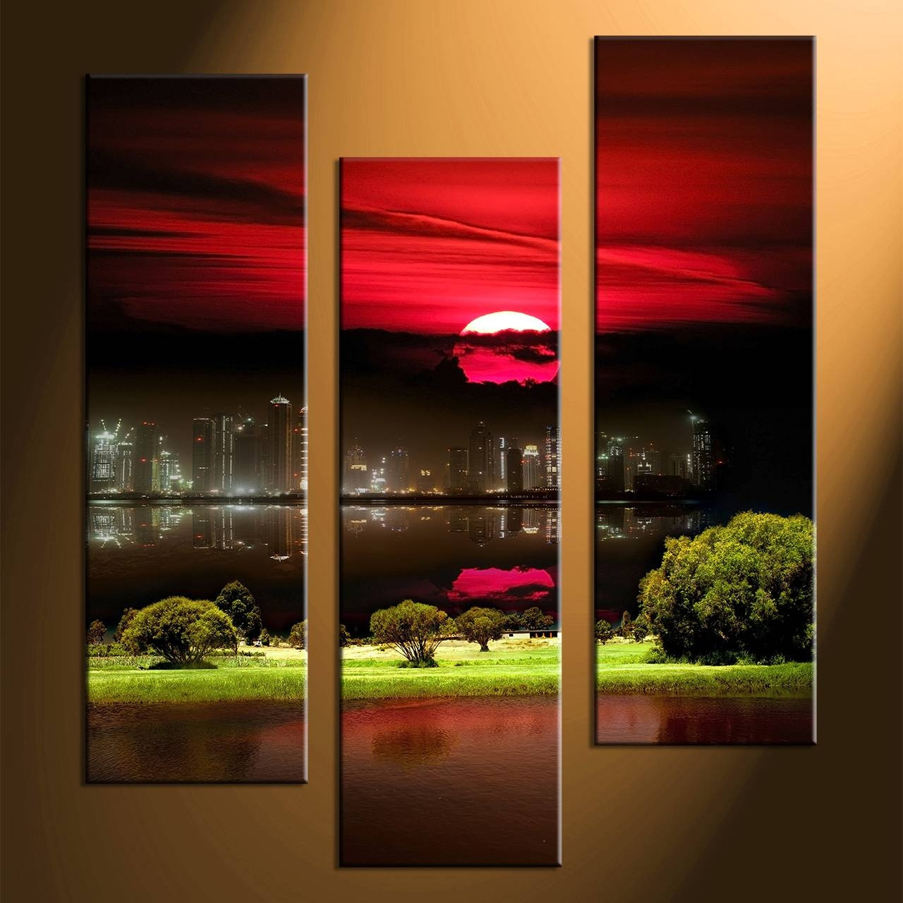 Best ideas about 3 Piece Wall Art . Save or Pin 20 The Best Canvas Wall Art 3 Piece Sets Now.
